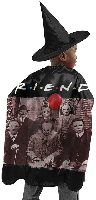 Halloween Children Abbey Road Killer Freddy Horror Movie The Massacre Machine Wizard Witch Cloak Cape Robe and Hat Set Black