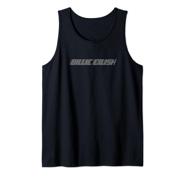 Billie Eilish Official Grey Billie Logo Tank Top
