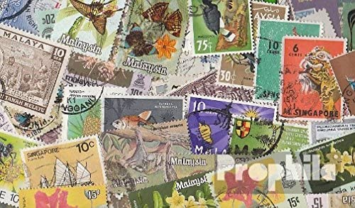 peninsular Malaysia Federation 100 Different Stamps Malaya/Malaysia/Singapore (Stamps for Collectors)