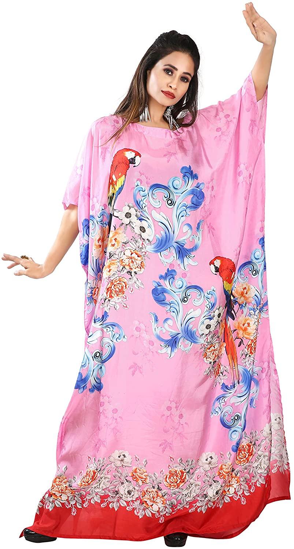 Bird Print Kaftan Boat Neck Amazing Caftan Australian Designer Kaftans Buy Caftan Bright Pink Kaftan