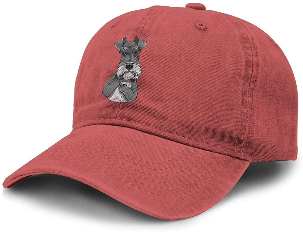 Game Life Schnauzer Dog Giving Middle Finger Gesture Cotton Cowboy Baseball Cap Snapback Hats