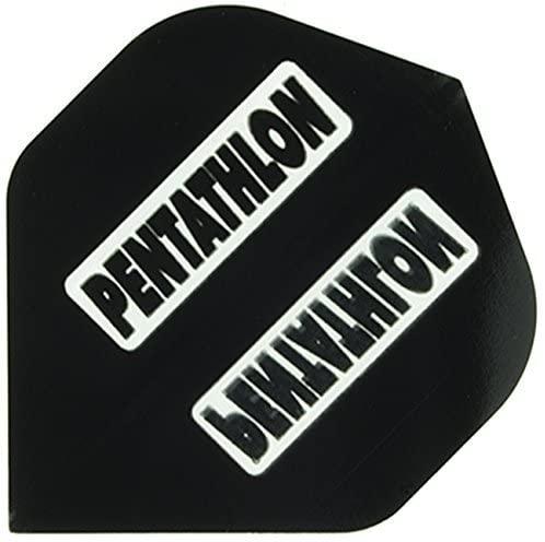 US Darts - 3 Sets (9 Flights) Pentathlon Standard Black Dart Flights