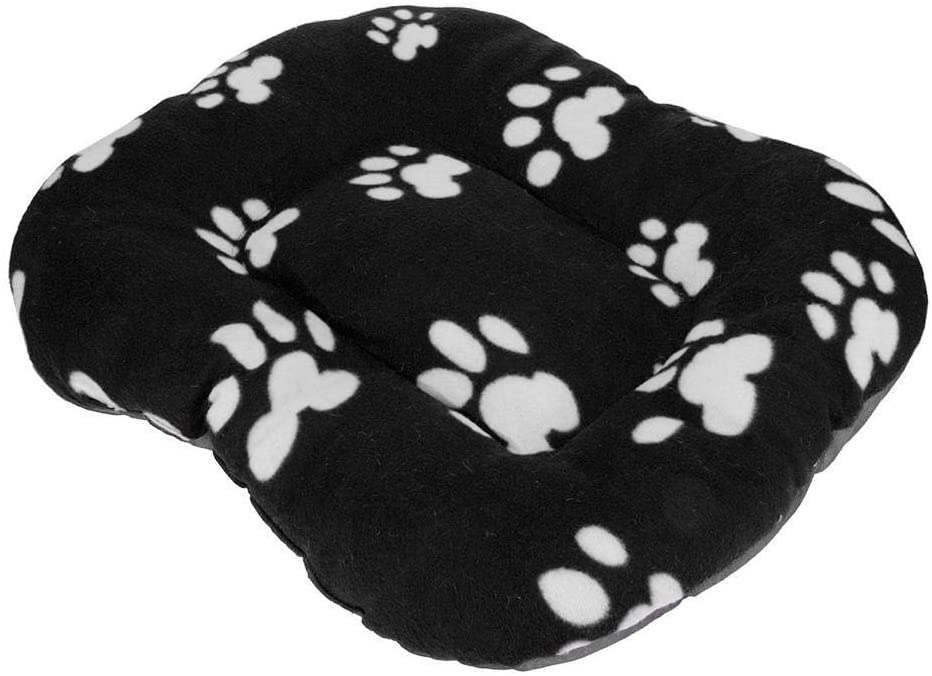 RuiXia Winter Warm Coral Velvet Pet Mat Nest Paw Print Pad Dog Kennel Bed - White