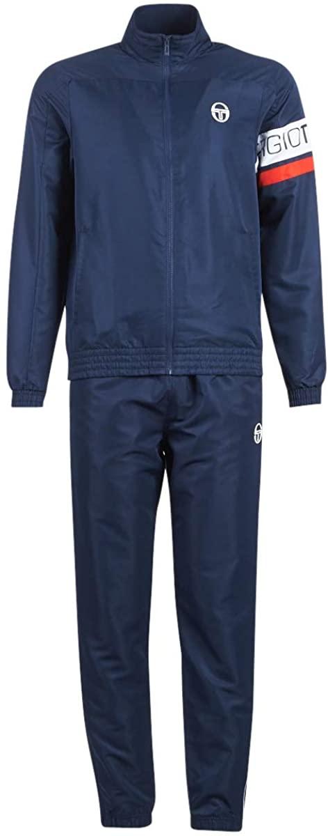 Sergio Tacchini Mens Cohan Full Tracksuit Track Jacket Track Pants Set - Navy