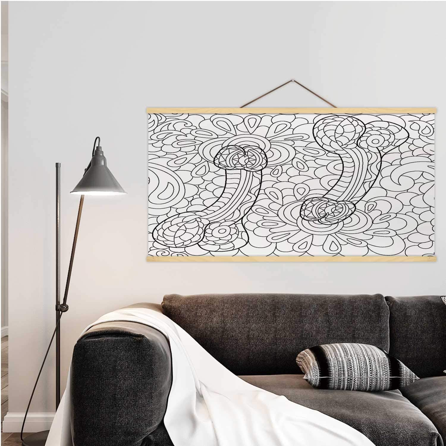 Penis pattern for adults.Anti stress colorful decorative element.Seamless pattern.Hand drawn intim or sex shop isolated. illustration Penis,Magnet Print Posters Medicine for Wall 24W x 12H