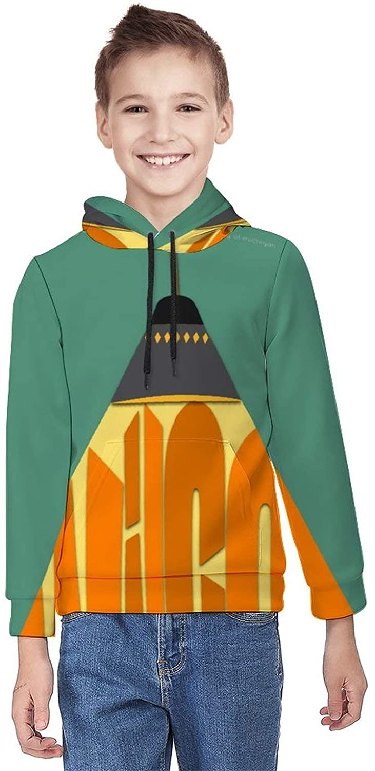 NMNMNM Yankee Wilco Hotel Foxtrot 3D Print Sweater Youth Pullover Hood Big Boys Girls Hoodie Sweatshirts