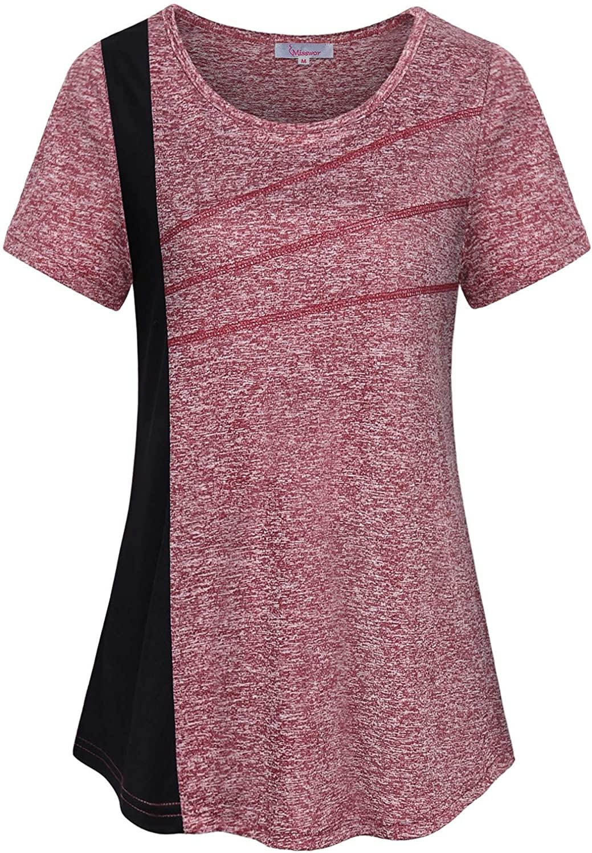 Misswor Womens Yoga Tops Short Sleeve Workout Activewear Dri Fit Shirt Tops