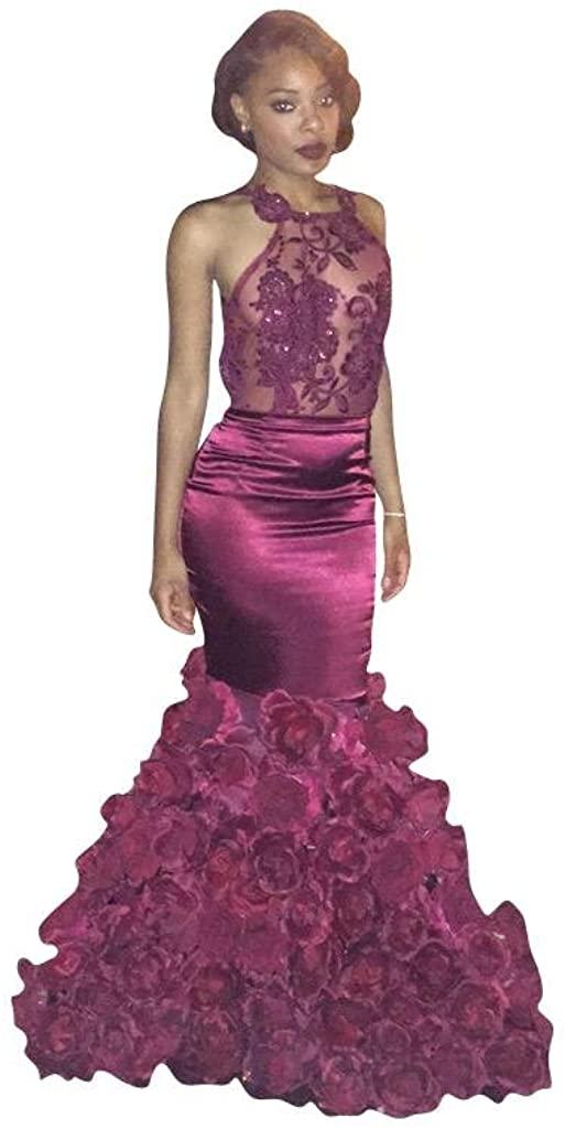 Changjie Women's Long Sleeves Mermaid Formal Evening Gown Backless Prom Dress