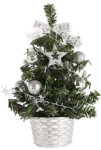 YZjk Artificial Tabletop Mini Christmas Tree Decorations Festival Miniature Tree 20cm новогодний декор новый год Deco Maison #25