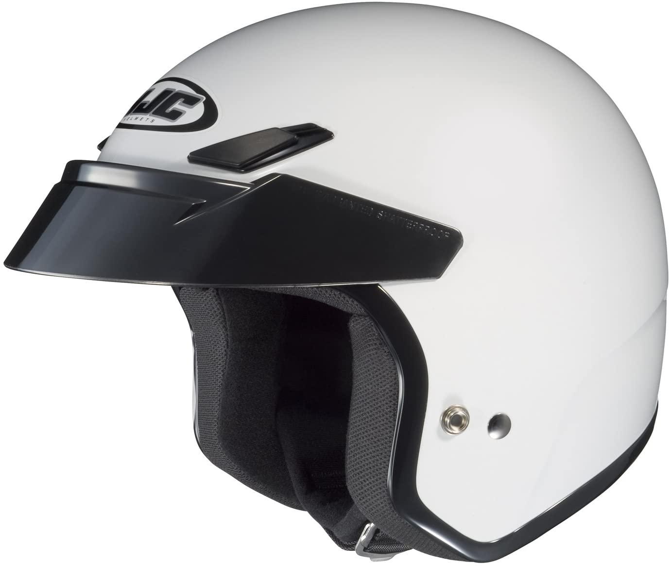HJC 430-145 CS-5 Open-Face Motorcycle Helmet (White, X-Large)