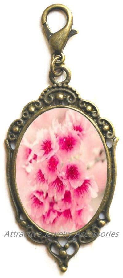 Cherry Blossom Zipper Pull, Cherry Blossom Jewelry, Cherry Blossom Jewellery, Cherry Blossom Gifts, Pink Flower Zipper Pull,QK0O107