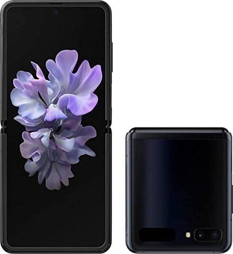 Samsung Galaxy Z FLIP SM-F700U1 Factory Unlocked (ATT, TMOBILE, VERIZON, Sprint) - US Warranty (Mirror Black) (Renewed)