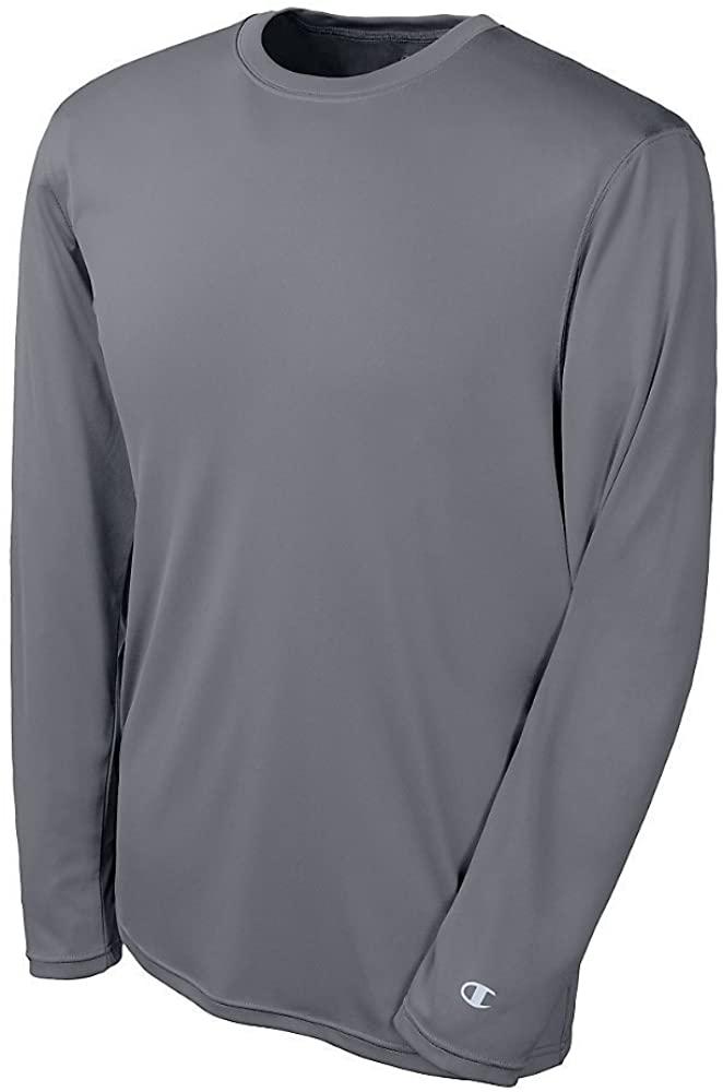 Champion Double Dry Long Sleeve Tee_Stone Grey