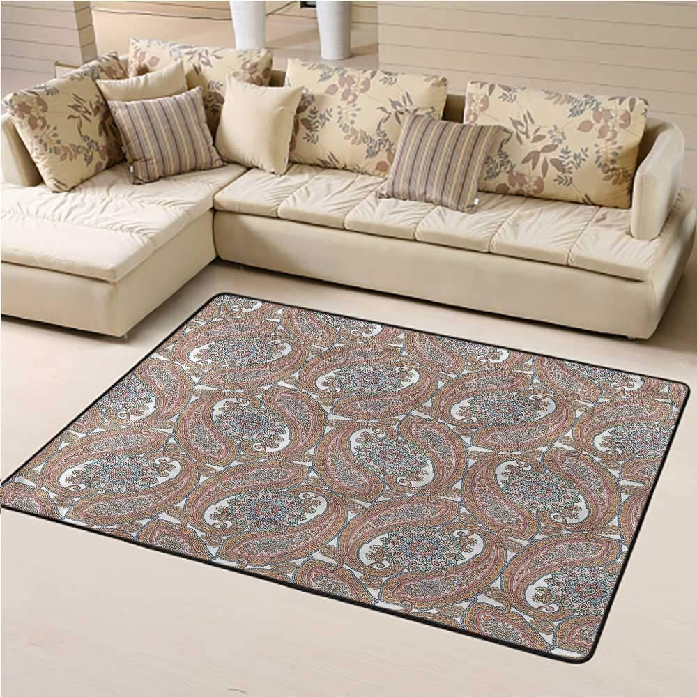 Rugs and Carpets Paisley Kids Play Rug Traditional Art Style Flora 6' x 9' Rectangle
