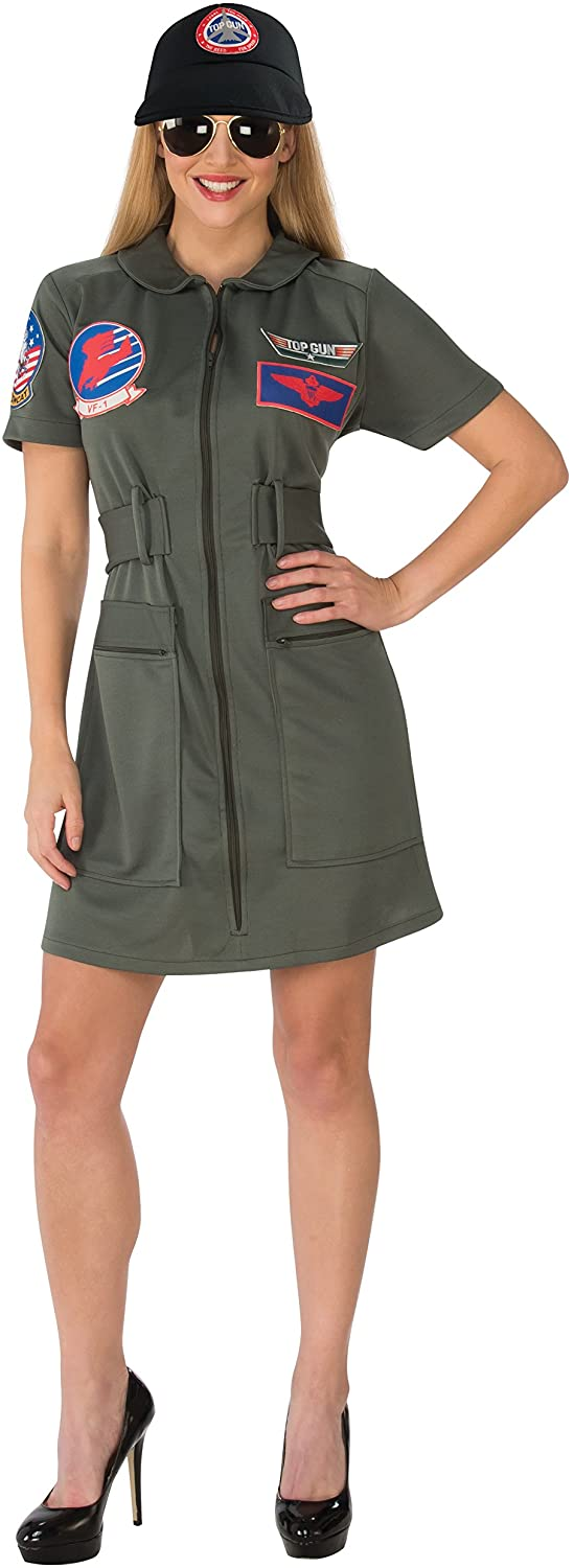 Rubie's Women's (Classic Movie) Deluxe Top Gun Costume Dress, as Shown, Large
