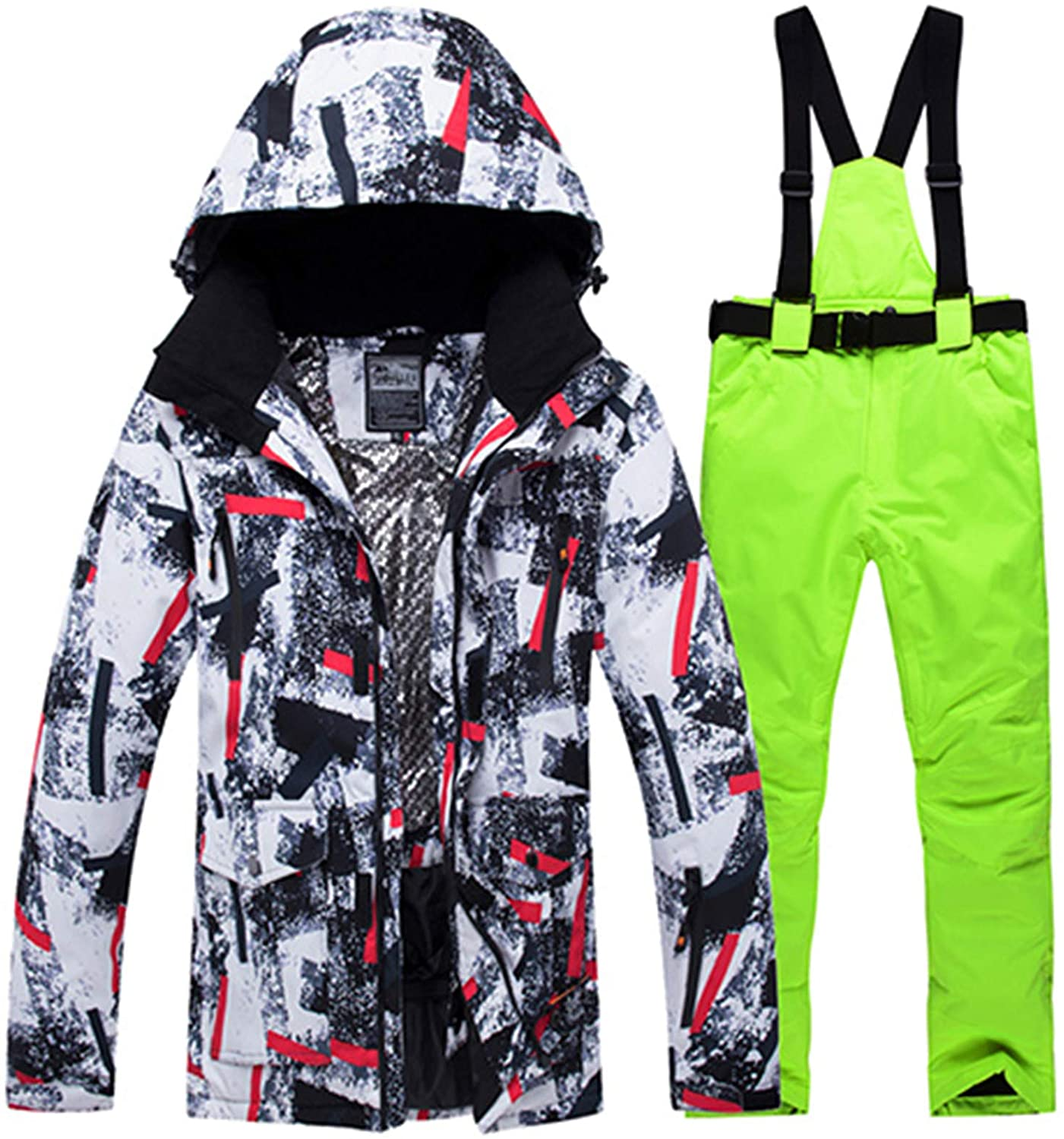 Ski Suit Men Windproof Waterproof Thicken Male Clothes Coat Trousers Pants Winter Ski Snowboard Jacket