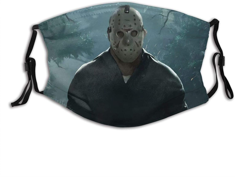 Jason Voorhees Outdoor Face Masks with Filter Anti Dust Reusable Men Women Face Bandana