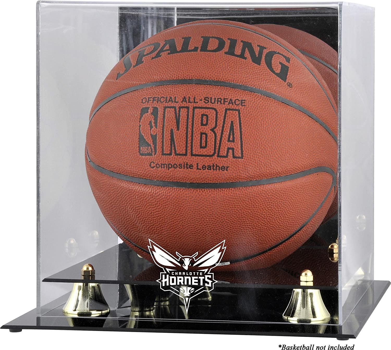 Charlotte Hornets Golden Classic Team Logo Basketball Display Case - Basketball Displays