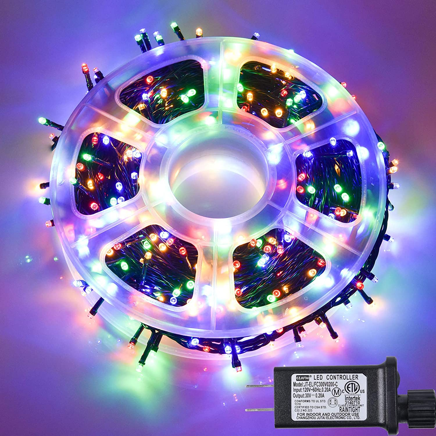 500 LED 164FT Fairy String Lights Plug in, Waterproof Christmas Lights with 8 Lighting Modes for Indoor, Outdoor, Bedroom, Wedding, Party, Garden, Christmas Tree Decoration (Multicolor)
