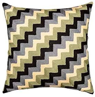 Lplpol Throw Pillow Cover Chevron Zig Zag Geometric Decorative Pillow CoverBedroom Pillowcase 24 Inch Christmas Decorations