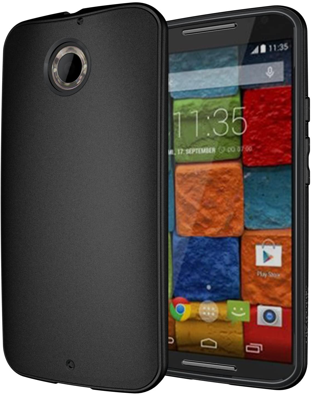 Moto X 2nd Gen Case, Diztronic Matte Back Flexible TPU Case for Moto X (2nd Gen, 2014 Model Only) - Black - (MTX-DM-BLK)