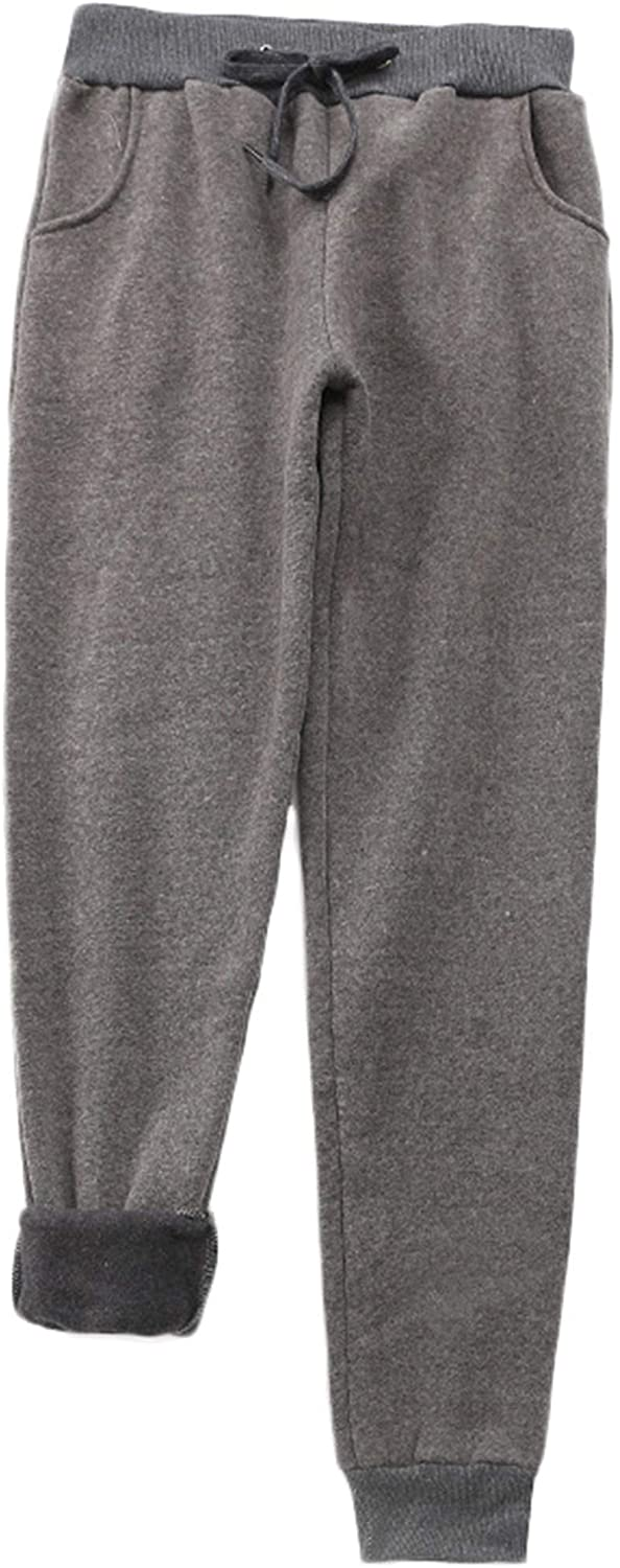 Andongnywell Womens Warm Fleece Pants Sherpa Lined Sweatpants Active Running Joggers Pants