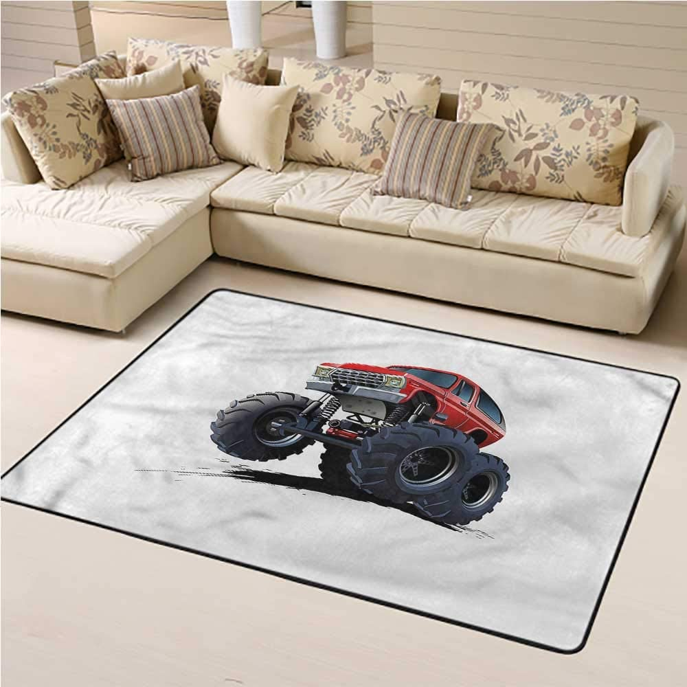 Rugs for Living Room Truck for Kids Room Extreme Off Road Race 6' x 9' Rectangle