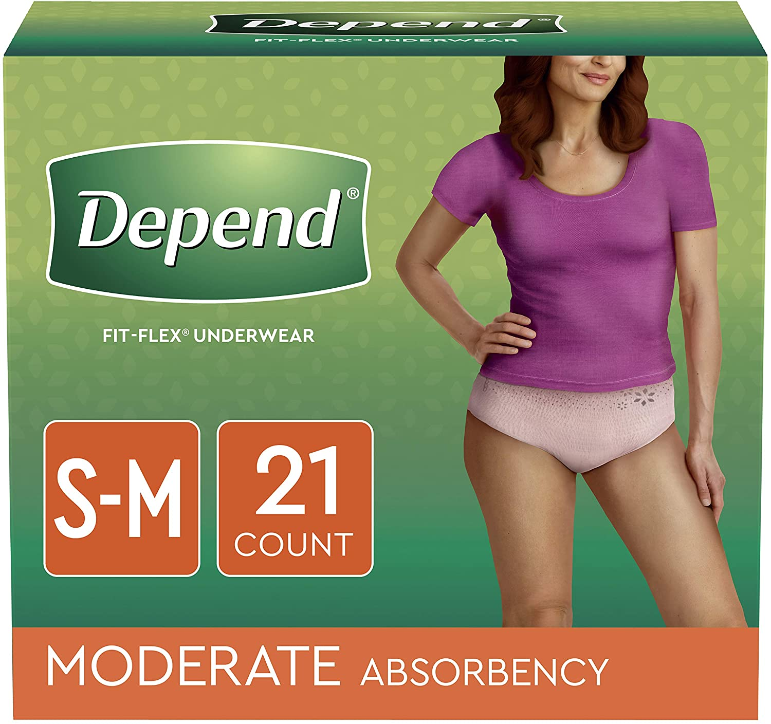 Depend For Women Fit-Flex Underwear Small/Medium - 21 CT