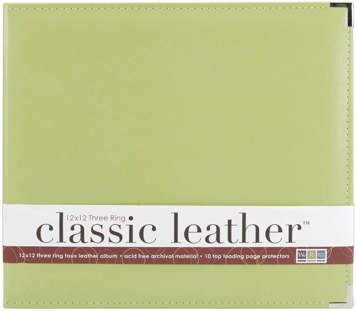 We R Memory Keepers 0633356609162 Classic Album Album & Sleeve-12 x 12-Ring-Kiwi