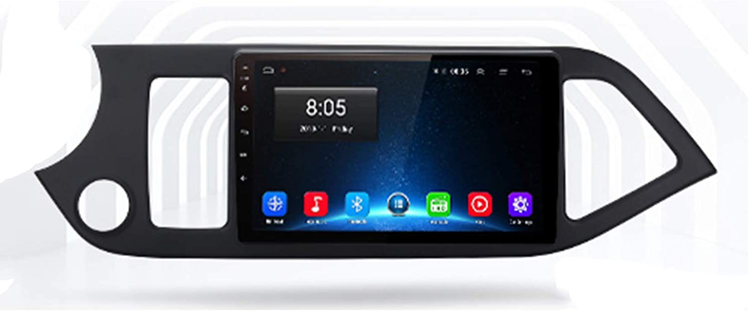 TypeBuilt Android Car Stereo 9 Inch Touch Screen Car Radio for KIA Picanto 2011-2014 Carautoplay Plug and Play Mobile Phone Mirror Link with Dual USB Support,WiFi,1G+16G