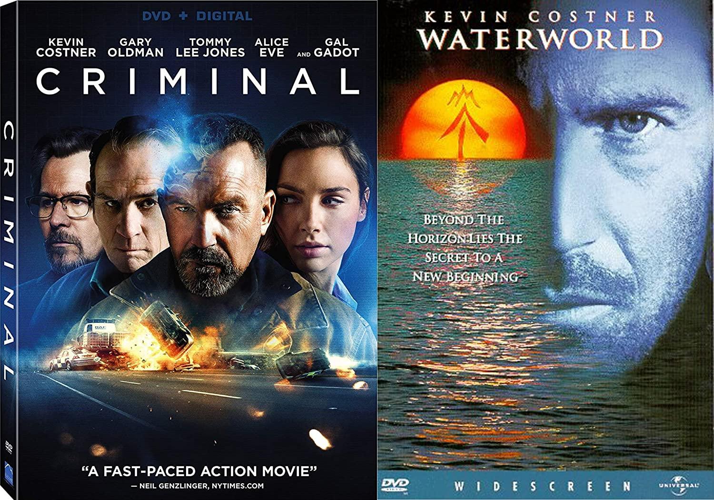 Kevin Costner Action and Adventure Collection - Waterworld (Widescreen) & Criminal (DVD + Digital) 2-DVD Bundle