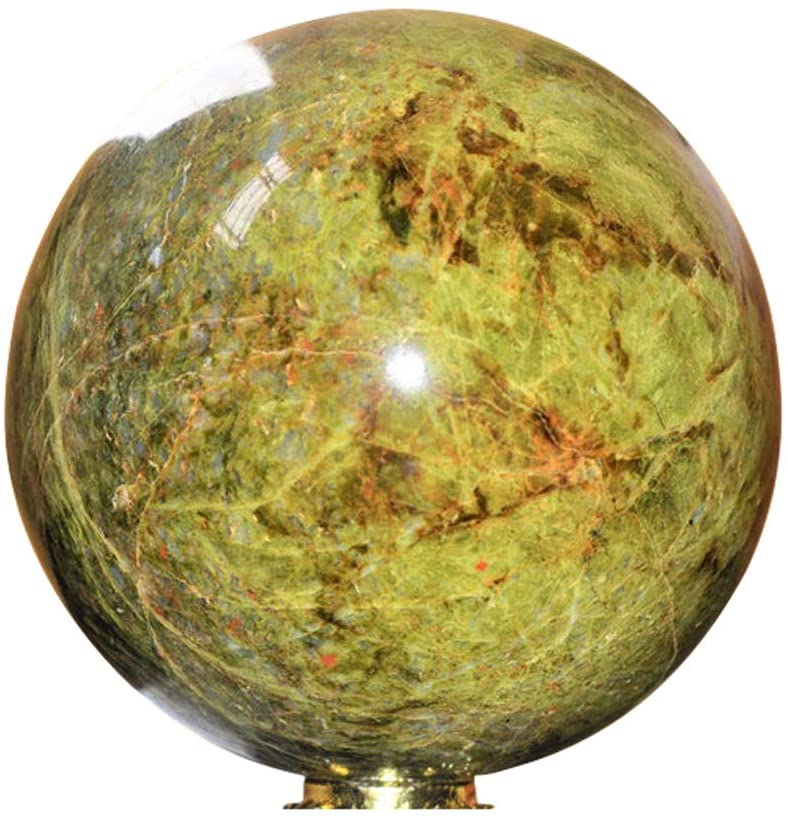 Natural Vesuvianite Spiritual Crystal Quartz Meditation Gemstone Healing Power Aura Stone Sphere Ball Reiki Chakra Positive Energy