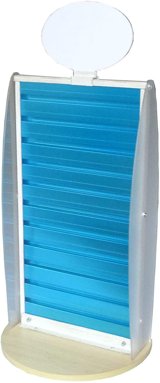 FixtureDisplays Slatwall Display Countertop Spinner Rack POP POS Retail Stand 11561-BLUE-NF No