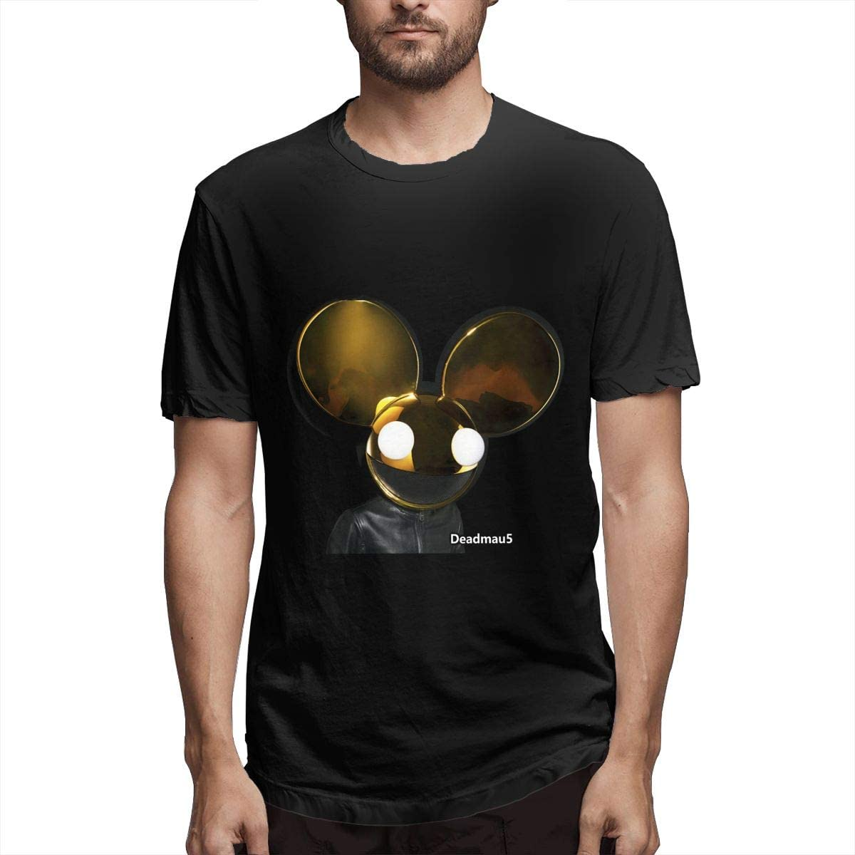 HualYwsl Deadmau5 Men's Short Sleeve T-Shirt Clothing Classic Crew Neck Tee