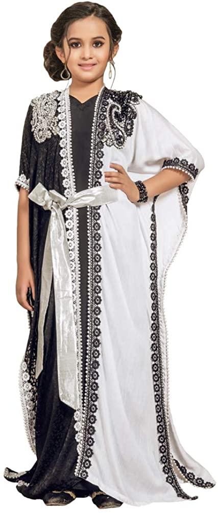 Kolkozy Fashion Kids Kaftan Saudi Arabic Style Black