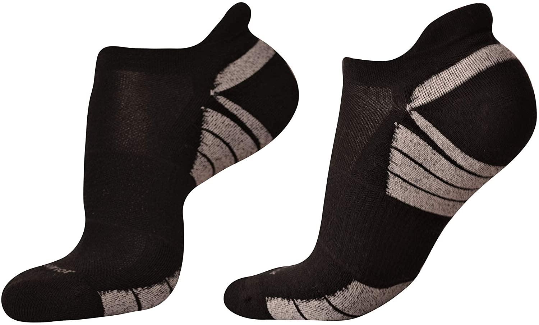 Woolrior Merino Anti-Blister Running Socks for Women, Cushion, No Show, Arrow Arch Support, Chorine Free Organic Merino Wool