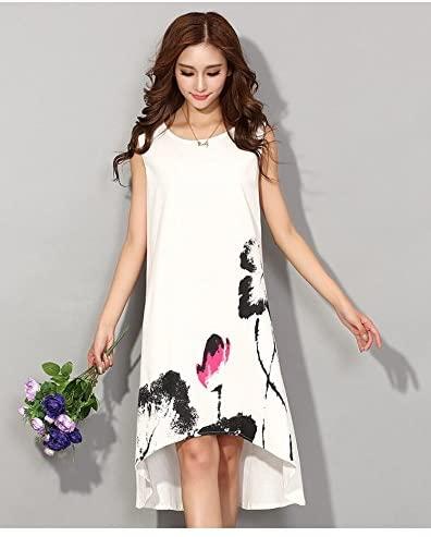 summer dress 2016 vestido casual dress dresses for women vintage dress ladies sundress plus size women clothing vestiti donna Size M