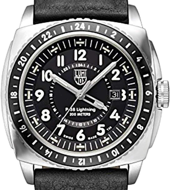 Luminox Air A.9421 P-38 Lighting 9420 Series 200m Men's Leather Watch