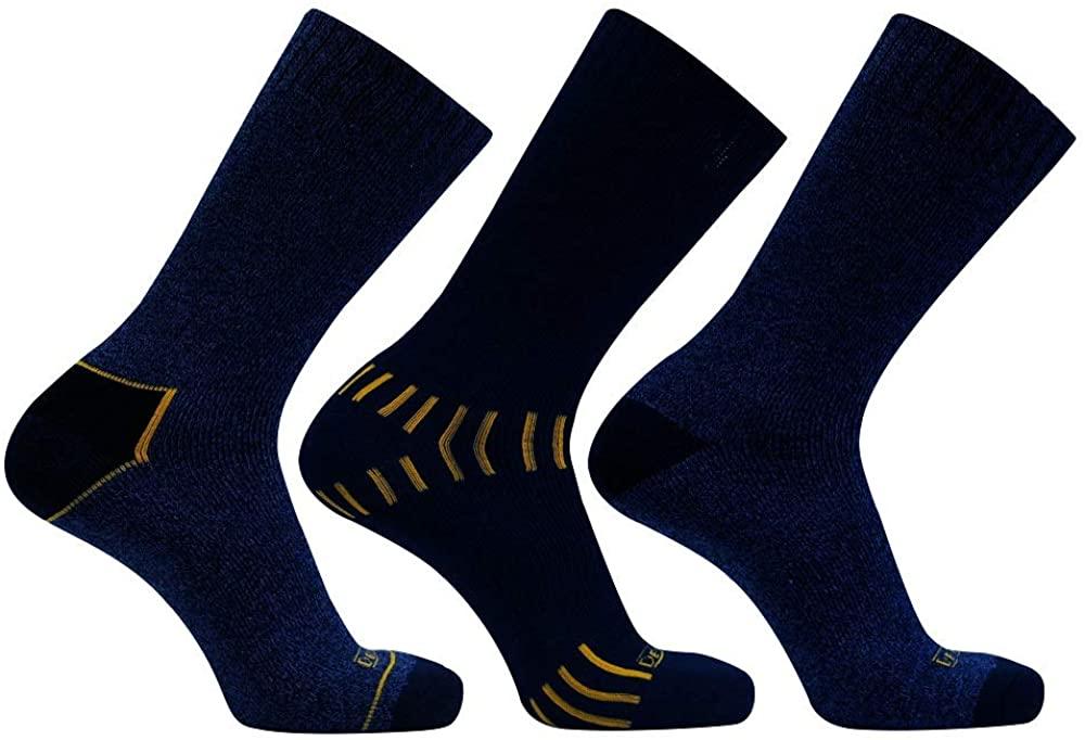 DeWALT Men's 3 Pair Everyday Cotton Blend Work Crew Sock