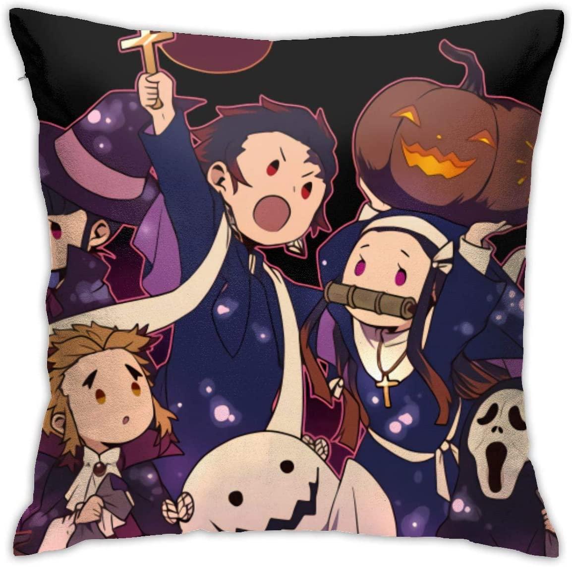 ACACAC Kimetsu no Yaiba Comfortable High-end Pillow Cover 18x18 inch Square Sofa Decorative Cushion Cover