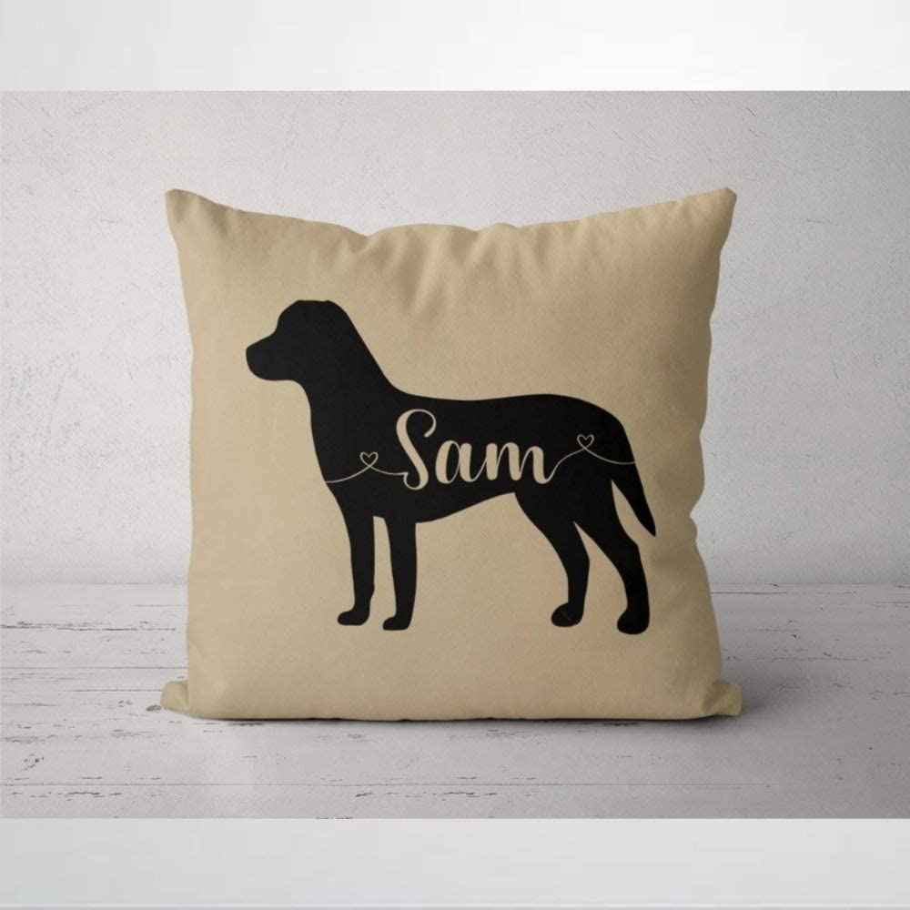 Custom Chesapeake Bay Retriever Pillow Personalized Chessie Pillow Case Cover Christmas Birthday Present for Throw Pillow Cover Linen Square Pillow case Cushion Cover Pillowcase with Zipper Home Deco
