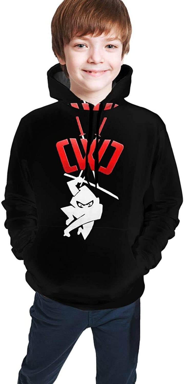 Chad Wild Clay C-W-C Funny and Good-Looking Hooded Sweate Jacket Black Comfortable Classic Unisex-Baby