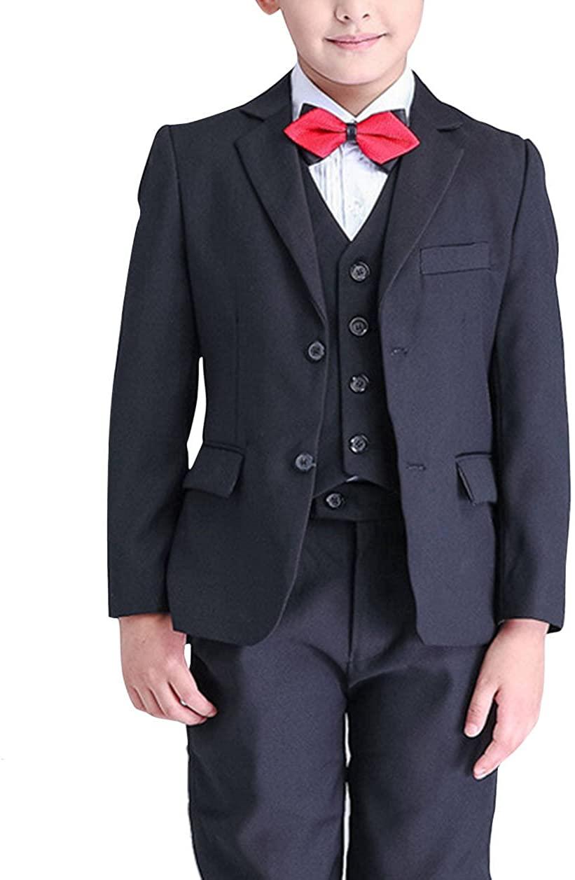 GEORGE BRIDE Boys Modern Fit Suit Solid Dress Suit Boys' Blazer Gentleman 3Pcs 3-10years