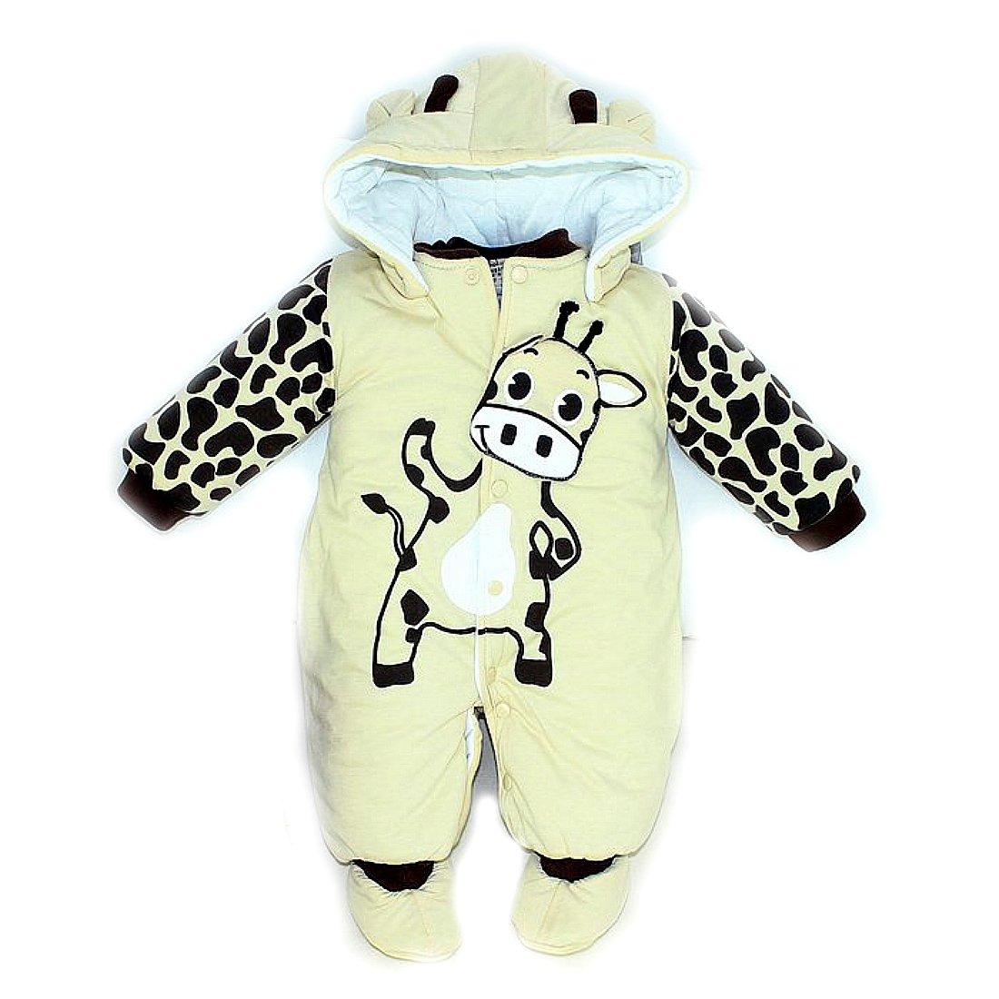 SOPO Giraffe Baby Boy Girl Winter Romper Christmas Newborn Winter Clothes 0-18m