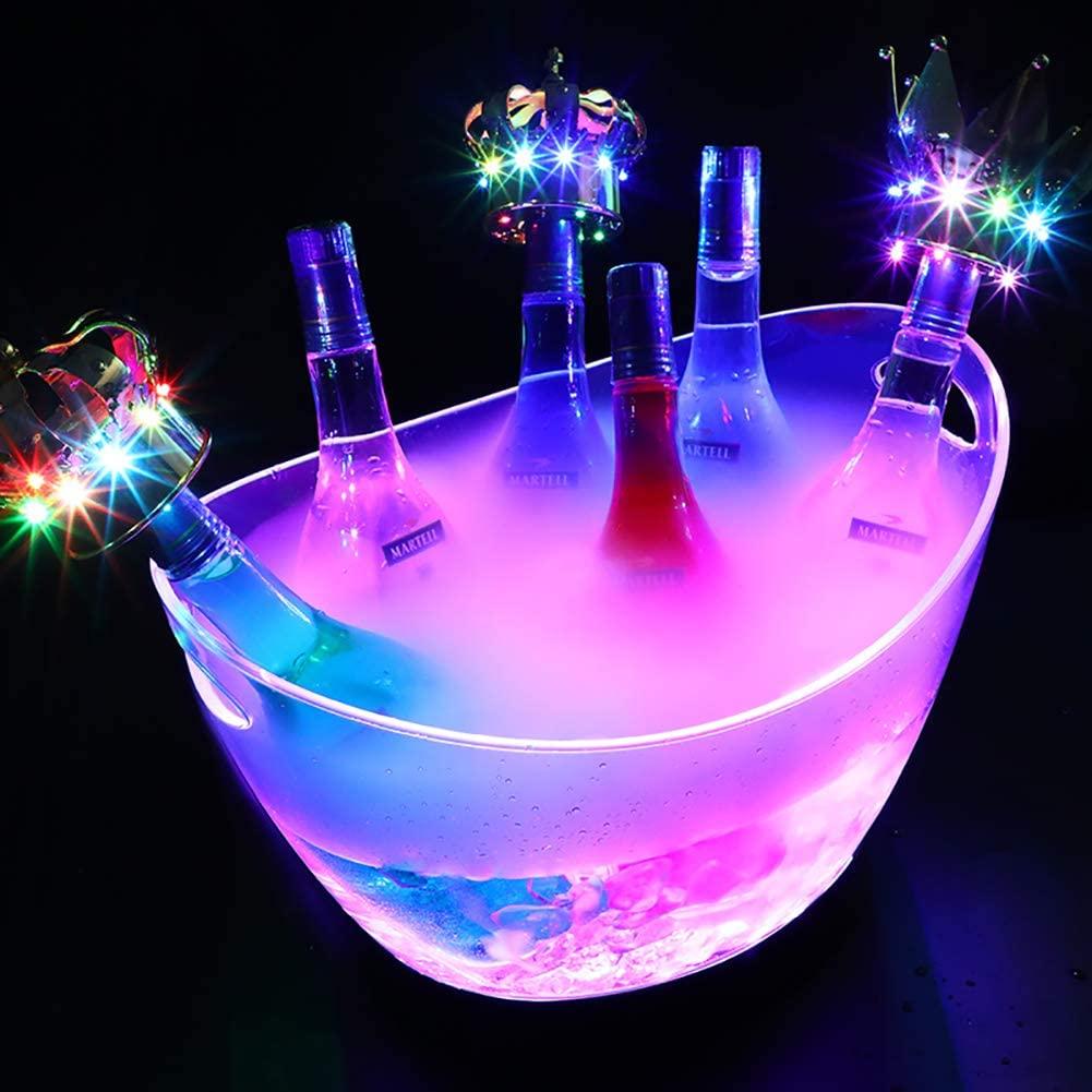 Ice Bucket Beverage Tub, LED, Wine Tub Chiller,Cheers Tub,Beverage Chiller Bin,Beer Bottle Drink Cooler Bar Nightclub Party Great for Wine Champagne Cocktails Beer 12L