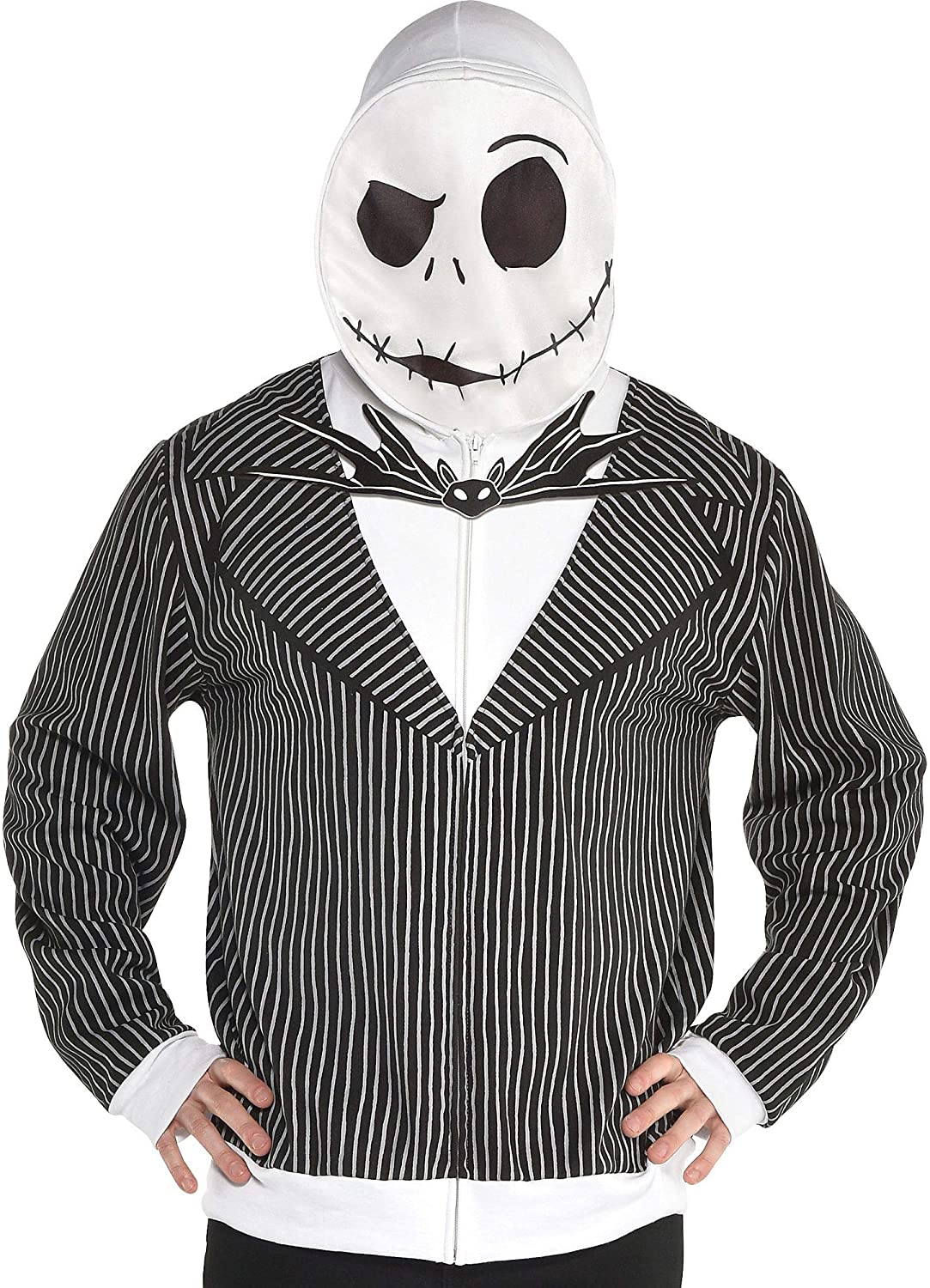 Party City The Nightmare Before Christmas Jack Skellington Hoodie for Men, Large/Extra Large