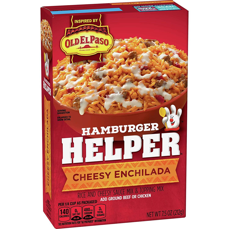 Betty Crocker Hamburger Helper Cheesy Enchilada 7.5 oz Box
