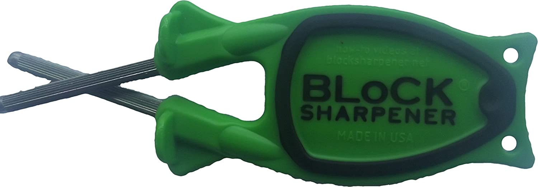 New Patent Block Sharpener ((Neon Green with Black Anti-slip grip))