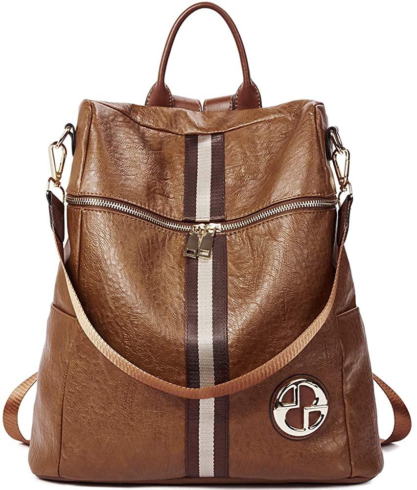 CLUCI Backpack Purse for Women Fashion Leather Large Travel Designer Ladies Shoulder Bags