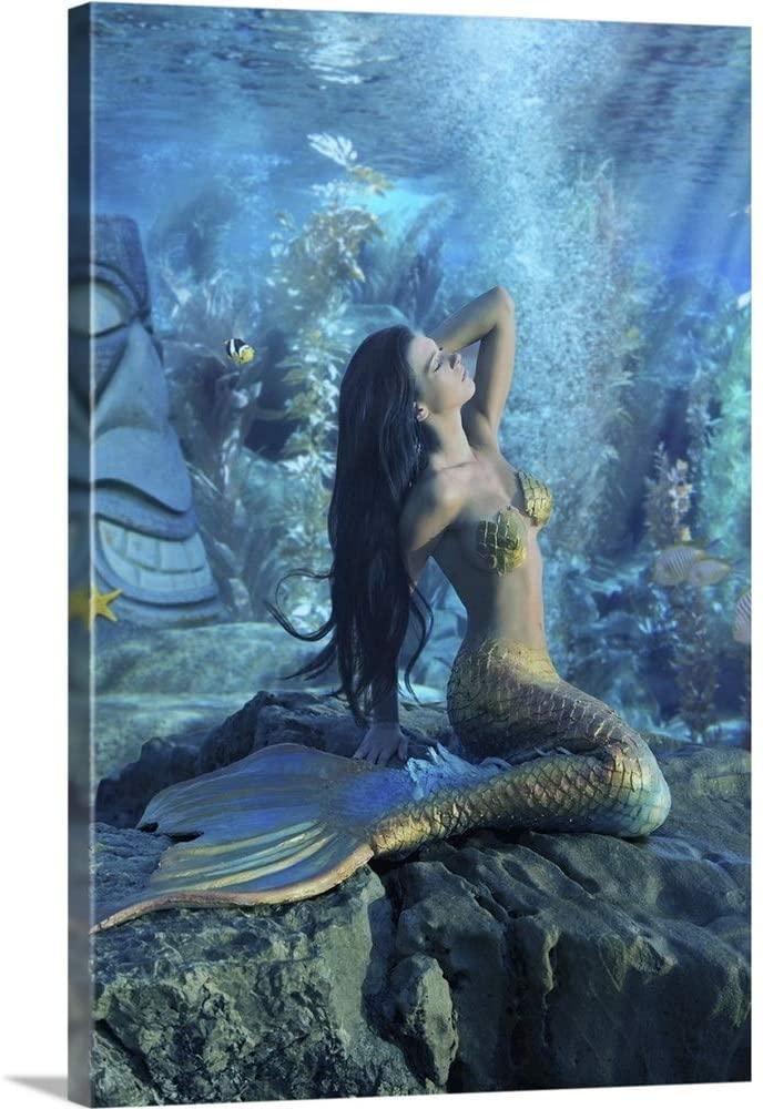 Mermaid Canvas Wall Art Print, 16x24x1.25